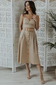 Комплект юбочный Olga Style М419 Бежевый