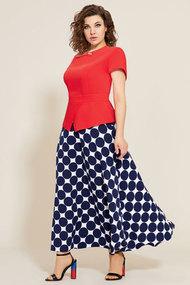 Комплект юбочный Мублиз 563 красный с синим