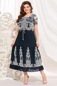Платье Vittoria Queen 13843 синий с молочным