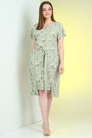 Платье Viola Style 0973 зеленые тона
