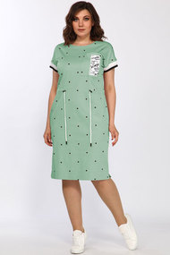 Платье Lady Style Classic 2277/2 мятный горошек