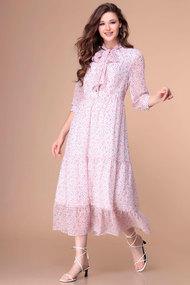Платье Romanovich style 1-2173 бело-розовые тона