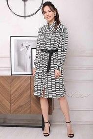 Платье Мода-Юрс 2643 Чёрный и белый