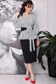 Комплект юбочный Мода-Юрс 2695 Чёрный и белый