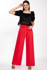 Комплект брючный LaKona 1376 красно-черный
