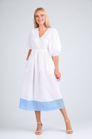 Платье Flovia 4090 бело-голубой