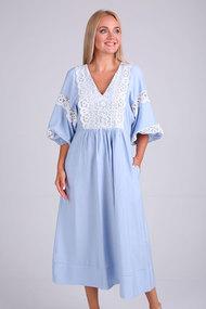 Платье Flovia 4095 голубой