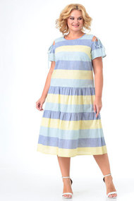 Платье KetisBel 1549 желто-голубой