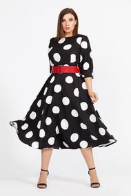 Платье Мублиз 583 черный в горох