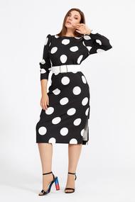 Платье Мублиз 586 черный с белым