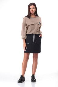 Комплект юбочный Bonna Image 631 бежевый с черным