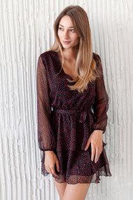 Платье Krasa 224-21 черный с красным