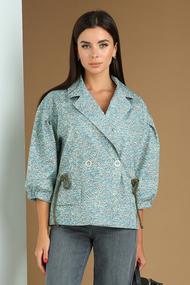 Блузка Viola Style 6036 голубые тона