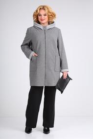 Полупальто Viola Style 6063 серый