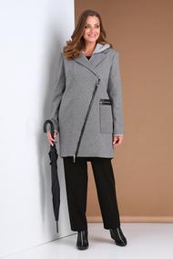Полупальто Viola Style 6037 серый
