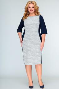 Платье SWALLOW 408 синий с серым